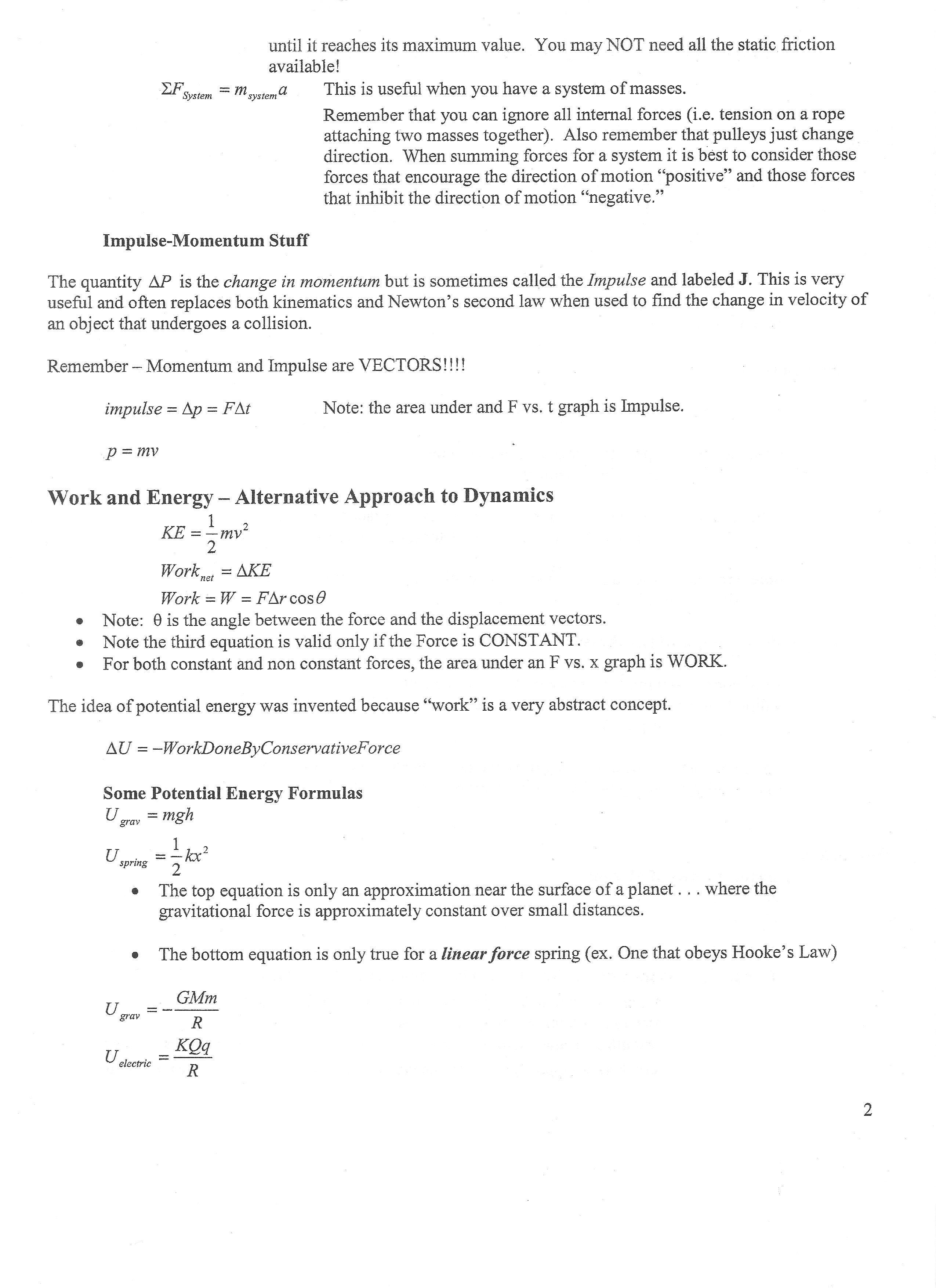 Mcat Physics Equations Quizlet Tessshlo